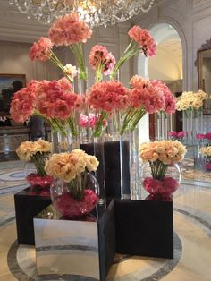 Gorgeous flowers at The Four Seasons George V but if you have the space in your house this can work