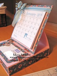 easel card calendar - Google Search