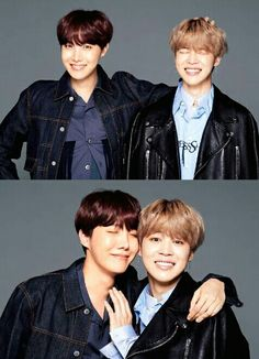 I love how the second one looks like jimin is trying to push him away.