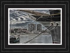 Balclutha Framed Print featuring the photograph Through The Ships Bow by Marnie Patchett