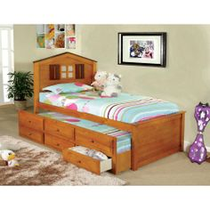 Tree House Captain Twin Bed With 3 Drawer Twin Trundle | Overstock.com Shopping - The Best Deals on Kids' Beds
