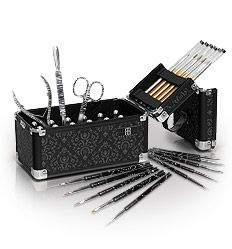 Professional Nail Art Collection - special offer18 bottles of varnish, set of brushes, dotting tools and manicure set £40