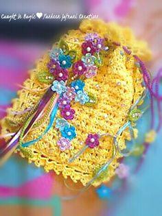 Floral drawstring gift bag .. @Caught In Magic-Farheen Jafrani Creations