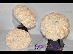 Tutoria: Cappello E/O Scaldacollo***Lafa - Diy Crafts Crochet Beret Pattern, Knitted Beret, Crochet Beanie, Crochet Baby, Knitting Patterns, Crochet Patterns, Sweethearts Hair Design, Tam O' Shanter, Diy Crafts Crochet