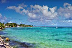 la plage de sable blanc de Sainte-Anne en Guadeloupe