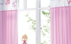 Girls & Boys bedroom curtains - Bedroom A Baby Girl Curtains, Girls Bedroom Curtains, Pink Bedroom For Girls, Pink Curtains, Nursery Curtains, Trendy Bedroom, Short Curtains, Home Design Decor, Home Decor