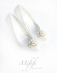Ozdoby Ślubne z Perłami -klipsy do butów Mififi - Mififi-klipsy-do-butow - Klipsy do butów