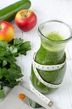 Grüner Apfel Gurken Smoothie