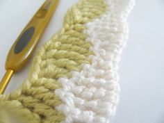 Wave stitch - Crochet - I think this is from the UK, so a treble crochet = double crochet