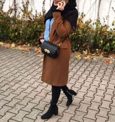 camel coat hijab-Furry sleeves sweaters with hijab – Just Trendy Girls