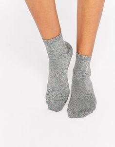 Image 1 ofASOS Glitter Ankle Socks
