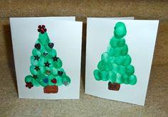 Christmas Craft: Fingerprint Homemade Cards   hands on : as we grow