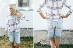 These boyfriend bermudas give you the perfect length and a comfortable fit! So easy to style and only $26.99!