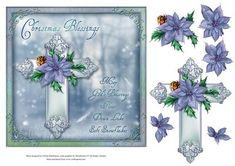 Christmas Blessings on Craftsuprint designed by Gillian Hutchinson - 7x7…