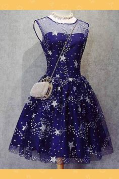 Customized Magnificent Prom Dresses Blue A Line Knee Length Beading Royal Blue Homecoming Dresses,Short Bling Prom Dresses Bling Prom Dresses, Royal Blue Homecoming Dresses, Prom Party Dresses, Dress Prom, Graduation Dresses, Bling Dress, Wedding Dresses, Homecoming Dresses Knee Length, Bridesmaid Dresses