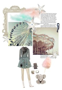 """Day At The Carnival"" by savagedamsel ❤ liked on Polyvore featuring Uniqlo, RED Valentino, Bruuns Bazaar, Tartine et Chocolat, vintage and carnival"