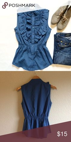 Blue Robin • Top This cute ruffle top buttons down the front. Blue Robin Tops Blouses
