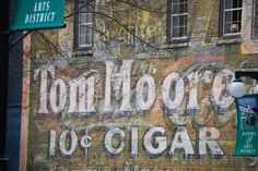 Ghost Ad on side of building downtown Hot Springs, AR by Cassandra Patton