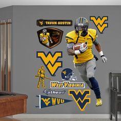 NCAA/NFLPA Tavon Austin West Virginia Mountaineers 2013 Wall Decal Sticker
