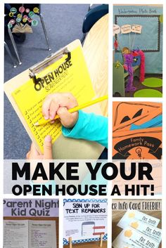 to School Series: 10 Ways to Make Your Open House a Hit! Summer Series: Jump Start Your School Year {Make Your Open House a Hit!} - The Classroom NookSummer Series: Jump Start Your School Year {Make Your Open House a Hit!} - The Classroom Nook Open House Activities, Preschool Open Houses, Back To School Activities, School Ideas, School Projects, Kindergarten Open House Ideas, Preschool Centers, Diy Projects, Back To School Night