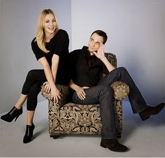 kaley cuoco & jim parsons