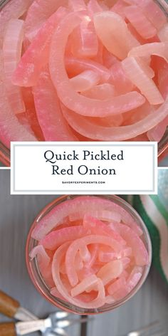 Quick Pickled Red Onion is a 3 ingredient recipe for what will become your favorite pickled onions! The perfect condiiment for so many dishes! Onion Recipes, Easy Soup Recipes, Pork Chop Recipes, Cooking Recipes, Pickled Sweet Peppers, Quick Pickled Red Onions, Best Sauce Recipe, Sauce Recipes, Vegetable Dishes