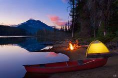 Sparks Lake, Oregon.  Wilderness Campsites.