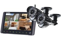 "SD Pro Wireless Video Surveillance System with 2 Cameras and 9"" Screen with Mobile Connectivity #homesecuritysystemandmonitoring"