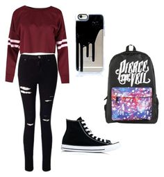 """""""Untitled #22"""" by spikeytwister on Polyvore featuring Miss Selfridge and Converse"""