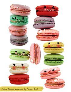 #kawaii #macarons