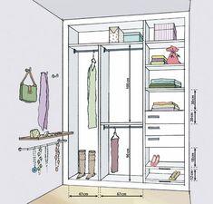 closets con dimensiones - Buscar con Google