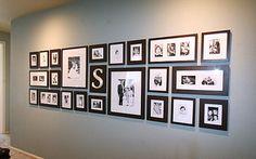 Decoração com fotografias na parede