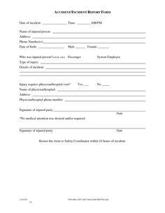 Sample Police Incident Report Template Images   Police Report Template