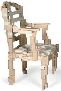 studio makkink & bey: pixelated chair at milan design week 09