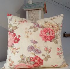 New Listing! Bouquet of Roses, 14x14 Decorative Pillow Cover, Pillow Sham, Throw Pillow Slipcover, Bedroom Pillow
