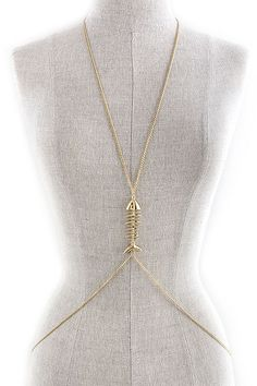 WHOLESALE JEWELRY TOWN : SKELETON FISH ACCENT BODY CHAIN