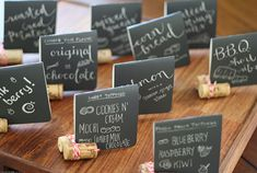 diy signs for the home | Pic for 25 DIY Chalkboard Paint Ideas - Mini Food Signs - DIY Home ...