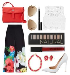"""""""Live lavishly"""" by fashionwiz342 on Polyvore featuring Ted Baker, Miguelina, Gianvito Rossi, Forever 21, Smashbox, Nine West, Rebecca Minkoff, Fornash, Ray-Ban and Givenchy"""