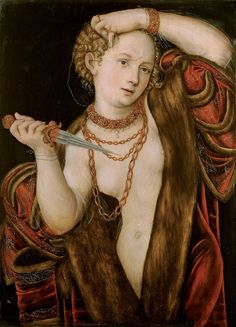 Lucas Cranach the Younger: Lucretia (oil on panel, private collection).