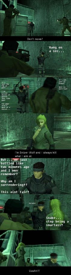 #MetalGearSolid Logic Fun ////// I can't breath all I can think about is snake doing this