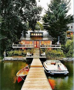 Copake Lake House - Dock - Lake Living - Outdoor Living dream house home boat Future House, My House, House By The Lake, River House, Cabin On The Lake, Dock House, Ideal House, House Property, Beautiful Homes