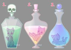 Potion Chibis (CLOSED) by LunaOfWater