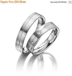 Hey, I found this really awesome Etsy listing at https://www.etsy.com/ca/listing/226555986/on-sale-his-and-her-wedding-ring-sets