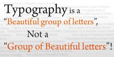 Typography is the backbone of a website! Let's think about it