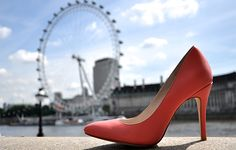 Sunset Glow at the London Eye - Shop Now at Upper Street #upperstreet #shoes #pumps #50shadesofpink