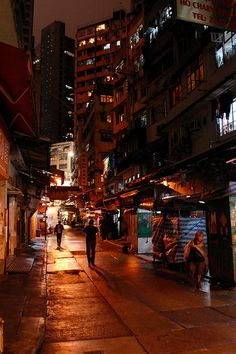 Hong Kong Streets at Night