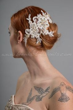 Ivory Lace Bridal Hair Piece, Pearl and Lace Wedding Hair Comb, Birdcage Fascinator - Jillian Ivory Bridal Crown, Bridal Lace, Lace Wedding, Hair Comb Wedding, Wedding Hair Pieces, Pearl And Lace, Bridal Shower Rustic, Lace Hair, Vintage Bridal