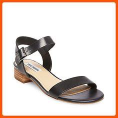 Steve Madden Women's Cache Black Leather Sandal 6 US - All about women (*Amazon Partner-Link)