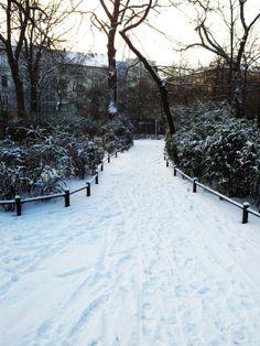 Snow-covered park #snow #winter