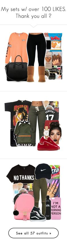 """""""My sets w/ over 100 LIKES. Thank you all """" by youngfashionaddict ❤ liked on Polyvore featuring Casetify, Givenchy, UGG Australia, NARS Cosmetics, Yves Saint Laurent, Kate Spade, Puma, Forever 21, MICHAEL Michael Kors and Nike Golf"""